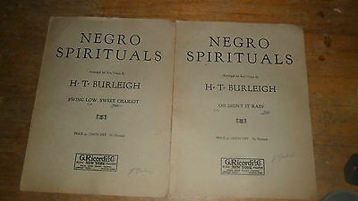Negro Spirituals By Burleigh - 2 Diff Swing Low And Oh Didnt It Rain