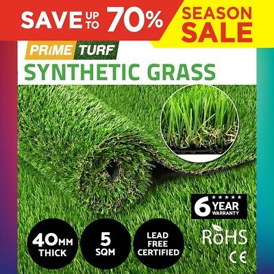 5SQM Synthetic Turf Artificial Grass Plastic Plant Fake Lawn Flooring 40mm