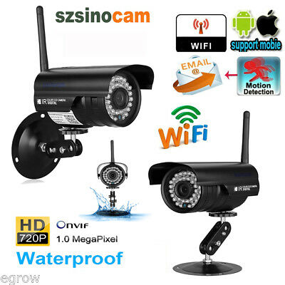 2X 720P HD WiFi Outdoor Waterproof Wireless IP Camera Night Vision CCTV Security