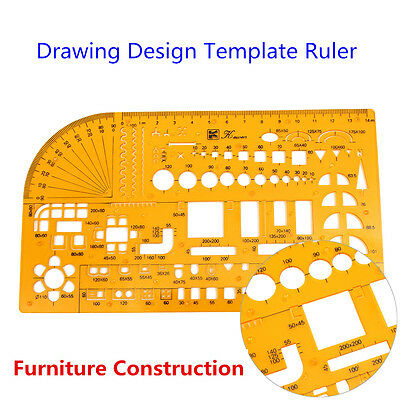 Professional Universal Furniture Construction Architect Template Ruler 1:100