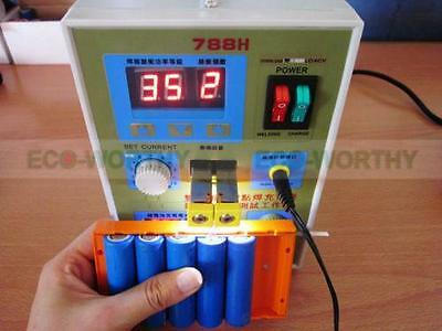 788H 60A USB LED Dual Pulse Spot Welder 18650 Battery Charger Power Bank Test US