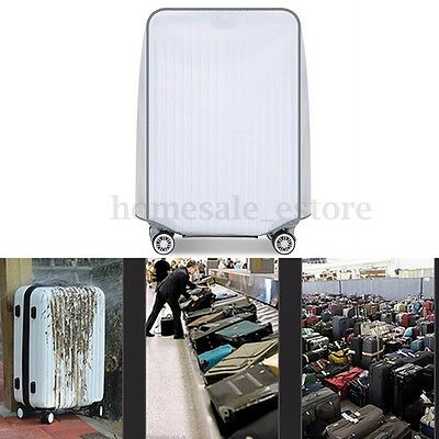 """New Clear PVC Transparent Travel Outdoor Luggage Protector Suitcase Covers 28"""""""