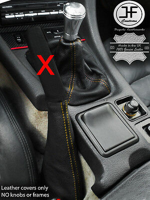LEATHER GEAR GAITER ONLY GREY STITCHING FITS VW SCIROCCO 2008-2013