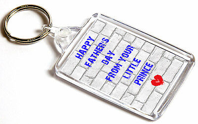 Happy Father/'s Day From Your Little Prince Double-Sided Keyring Fathers Day Gift
