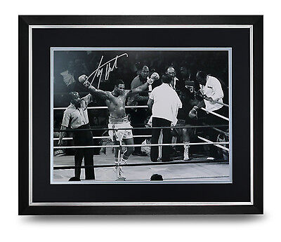 Larry Holmes Signed Photo Large Framed Display Boxing Autograph Memorabilia COA