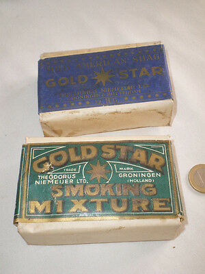 2 Anciens Paquets De Tabac Gold Star