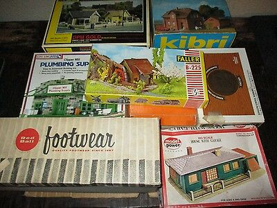 Box Lot Ho Scale Incomplete Building Kits