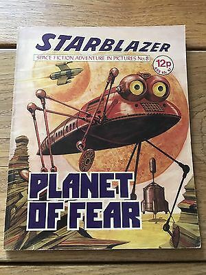 Vintage Starblazer DC Thomson Comics no 8 Planet Of Fear