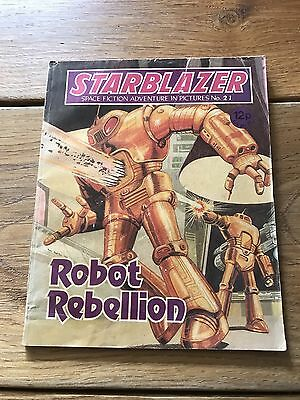Vintage Starblazer DC Thomson Comics no 21 Robot Rebellion