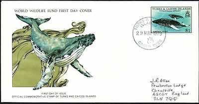 FDC - Turks & Caicos Islands 1979 WWF, Wildlife, Humpback Whale First Day Cover