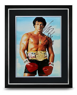 Sylvester Stallone Signed Photo Large Framed Display Rocky Autograph Memorabilia