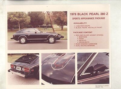 1978 Datsun 280Z Black Pearl Appearance ORIGINAL Factory Photograph ww7942