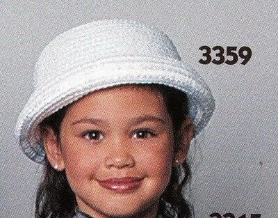 New Lot of 12  Child size White curled brim straw dressy dance hats #3354
