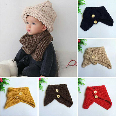 Toddler Baby Kids Girl Boy O Neck Knitted Scarf Snood Circle Shawl Neckerchief