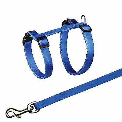 Trixie Blue Cat Harness and Lead Set Nylon 4188