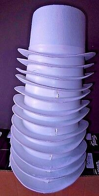 """NEW Lot of 12 White Felt Top hats Dance Tap Adult size 22.25"""" & 23"""" Theatrical"""