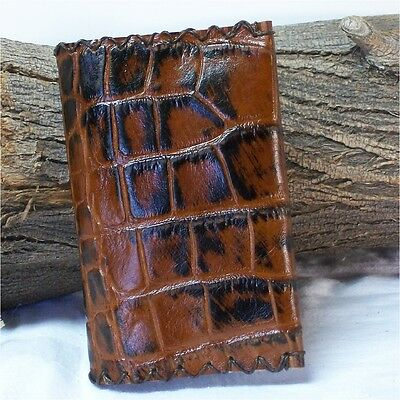 Leather Pocket Journal, Art Diary, Planner, Hiking 3.5X5.5 Brown, Dragon Alley