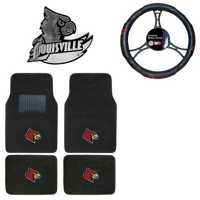 """NEW NCAA Louisville Cardinals 3/"""" Fuzzy Dice Great for any Car or Truck"""