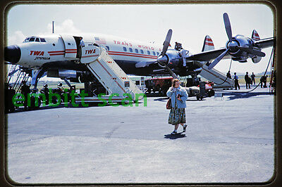 Original Slide, TWA Lockheed L-1649A Starliner (N7310C), in 1958