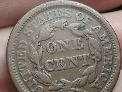 1855 Braided Hair Large Cent Penny, Upright 5s