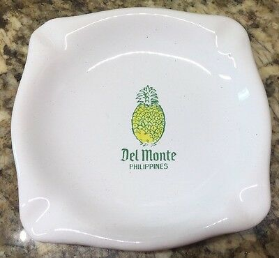 Vintage Advertising Del Monte Pineapple Pickers Philippines Ashtray