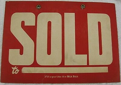 """Older New Idea Farm Machinery """"sold"""" Sign: Coldwater Ohio"""