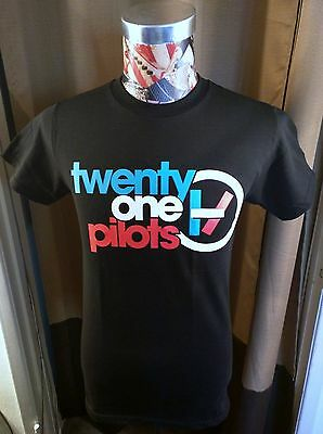 21 Twenty One Pilots Red White Blue Logo Alternative Rock Band Black T Shirt