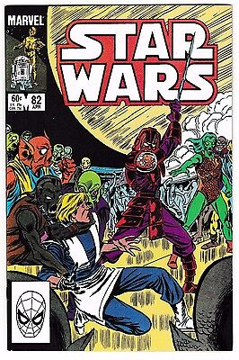 STAR WARS #82 (NM-) Luke Skywalker Cover! Marvel Early Copper-Age Comic 1984