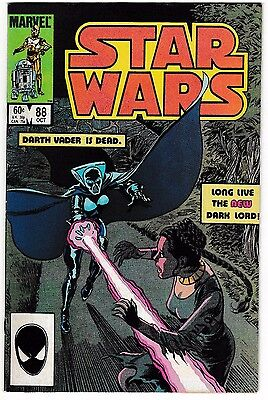 STAR WARS #88 (VF+) Princess Leia Cover! New Dark Lord! 1984 Classic Marvel