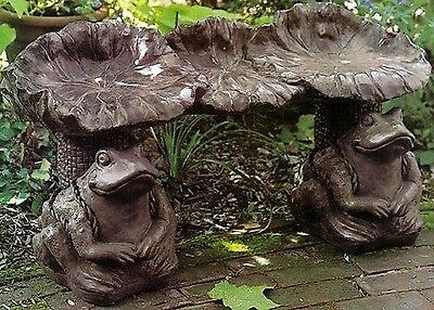 Concrete  Garden Latex Fiberglass Bench Lilly Pads Top Mold
