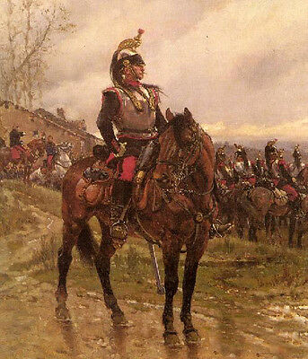 Charming Oil painting male portrait horseman - The Hussars no framed canvas