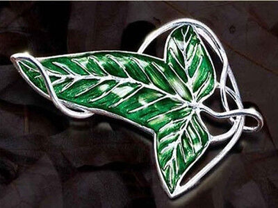 12P Fashio LOTR Lord Of The Rings's leaf Brooch Pin 18inch Chain Necklace Pendan