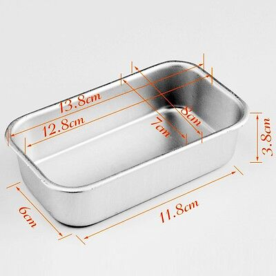 Large Rectangle Aluminum Box Loaf Tin for Home Bread Cake Cakes Baking Bakeware