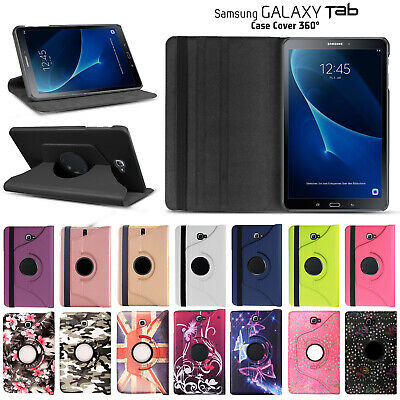 Leather 360 Degree Rotating Stand Flip Tablet Cover Case For Samsung Galaxy Tab