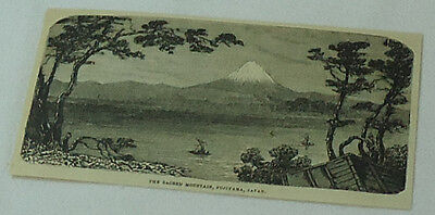 1882 magazine engraving ~ SACRED MOUNTAIN, FUJIYAMA, Japan