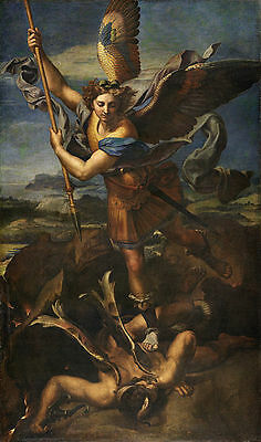 Dream-art oil painting Le Grand Saint Michel - Raffaello Sanzio angel kill devil