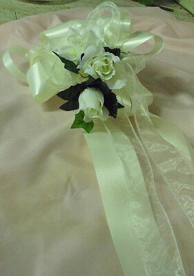 wedding flowers 6 x pew ends/ chair backs MANY COLOURS ROSES