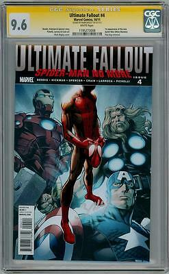 Ultimate Fallout #4 Cgc 9.6 Signature Series Signed Bagley 1St Miles Morales