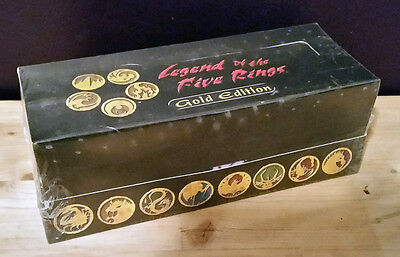 L5R legend of the five rings ccg Gold Edition starter display box (all 8 decks)