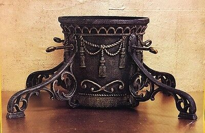 "Vintage Traditions  Cast Iron Christmas Tree Stand very ornate 7"" trunk Capacity"