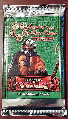 L5R legend of the five rings booster box lot of 48 DRUMS of WAR sealed packs