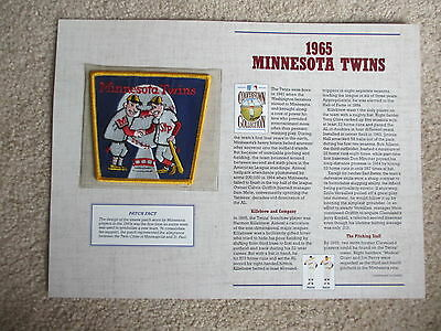 1995 Willabee & Ward 1965 Minnesota Twins Baseball Cooperstown Collection Patch