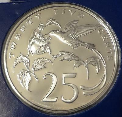 1979 Jamaica, 25 Cents, Proof, Low Mintage 4,049 Humming Bird