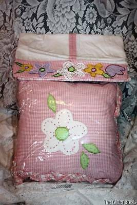 Laura Ashley Shabby Cottage Baby Girls Diaper Stacker Matching Pillow Nursery B7