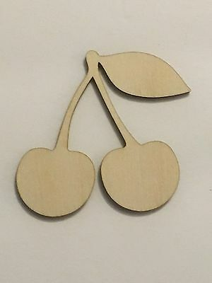 Crafting Supplies - Cherry, Cherries Unfinished Wood, Laser Cut Wood, A234