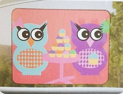 "NEW Auto Drive Brand Hoot Owl Cling Sunshade Side Car Window 12"" x 16"" Reusable"