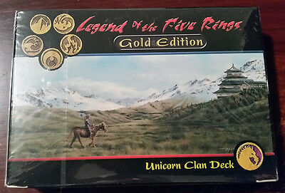 L5R legend of the five rings sealed GOLD edition starter deck UNICORN clan