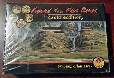 L5R legend of the five rings sealed GOLD edition starter deck PHOENIX clan