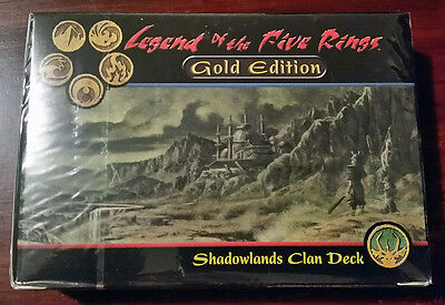 L5R legend of the five rings sealed GOLD edition starter deck SHADOWLANDS clan