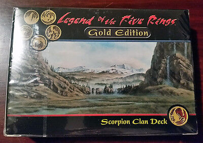 L5R legend of the five rings sealed GOLD edition starter deck SCORPION clan